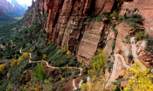 Our path to Angels Landing